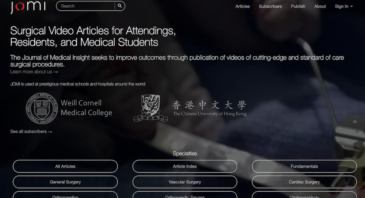 Journal of Medical Insight (jomi com) | Albert Tian Chen